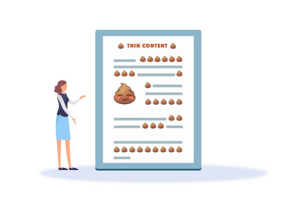 Thin content – mối nguy hại cho SEO: làm sao để khắc phục?