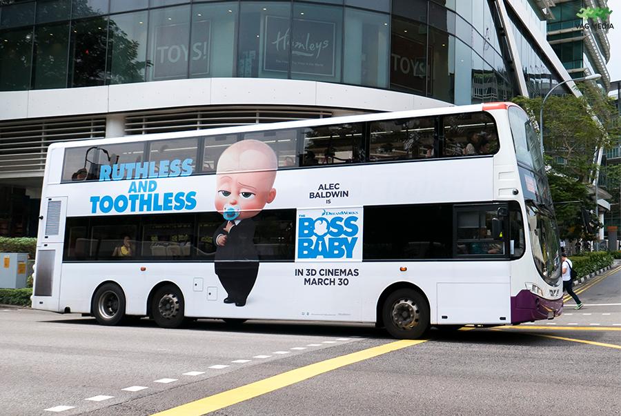 Hình thức quảng cáo lưu động trên phương tiện công cộng
