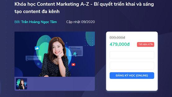 nội dung khóa học content marketing A Z bí quyết triển khai và sáng tạo content đa kênh của ktcity rất đa dạng và phong phú